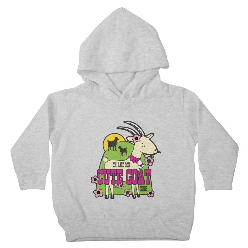 Cute Goat 5K & 10K Kids Toddler Pullover Hoody by moonjoggers's Artist Shop