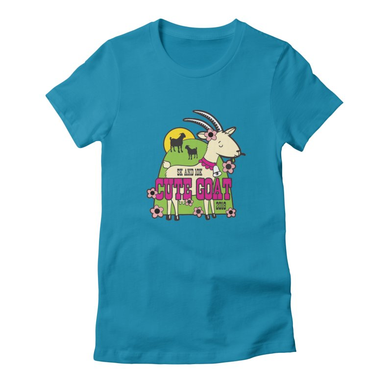 Cute Goat 5K & 10K Women's T-Shirt by Moon Joggers's Artist Shop