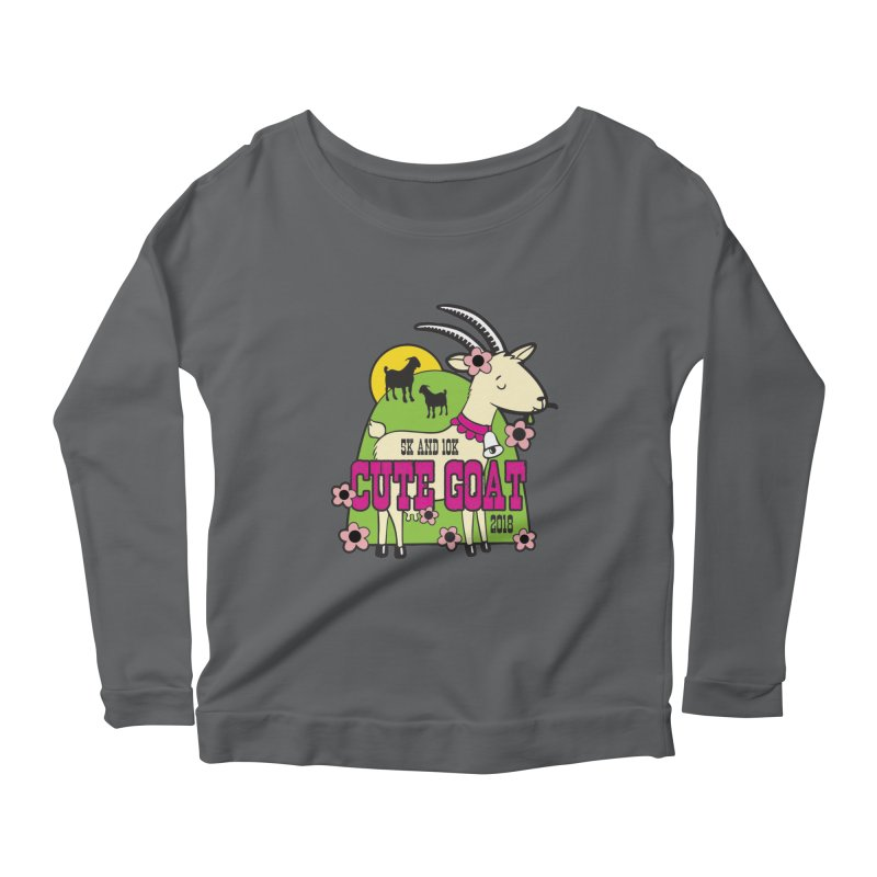 Cute Goat 5K & 10K Women's Scoop Neck Longsleeve T-Shirt by moonjoggers's Artist Shop