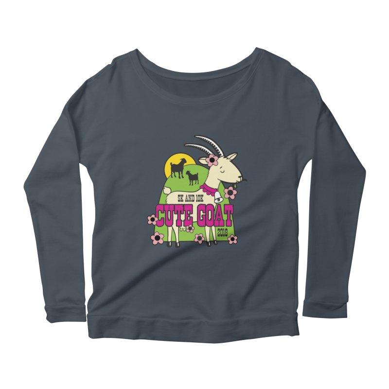 Cute Goat 5K & 10K Women's Scoop Neck Longsleeve T-Shirt by moonjoggers's Artist Shop