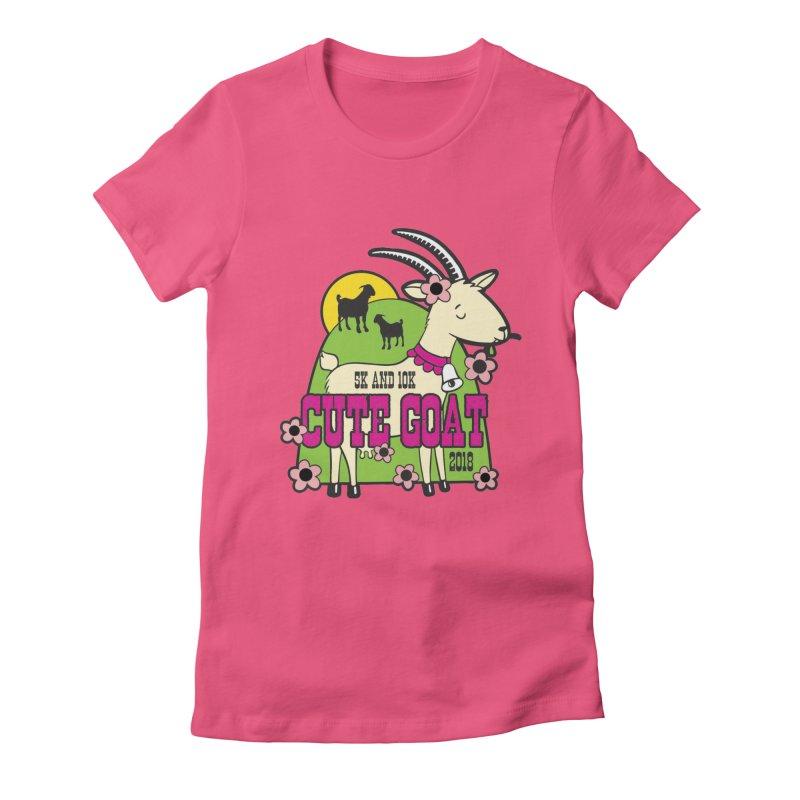 Cute Goat 5K & 10K Women's Fitted T-Shirt by moonjoggers's Artist Shop