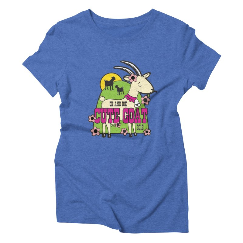 Cute Goat 5K & 10K Women's Triblend T-Shirt by moonjoggers's Artist Shop