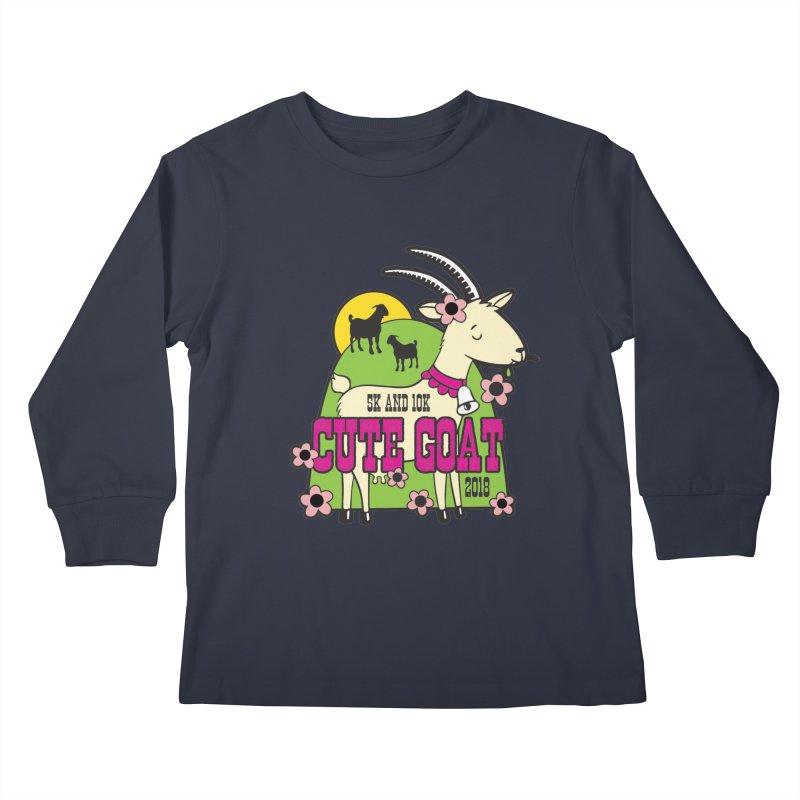 Cute Goat 5K & 10K Kids Longsleeve T-Shirt by moonjoggers's Artist Shop