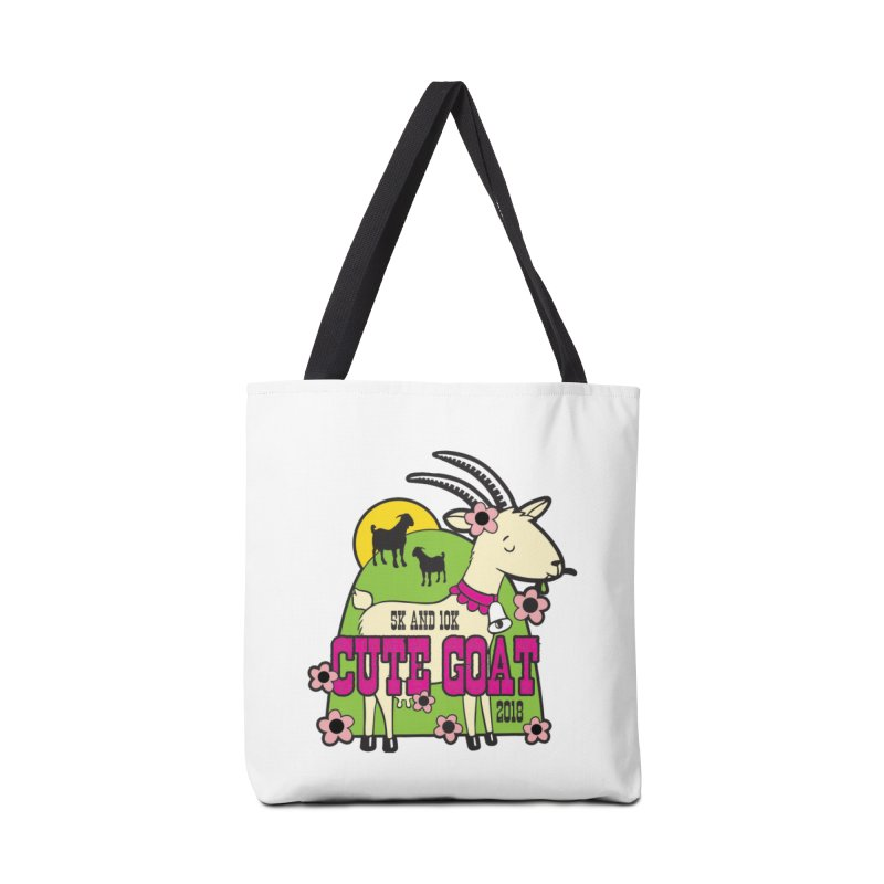 Cute Goat 5K & 10K Accessories Bag by moonjoggers's Artist Shop