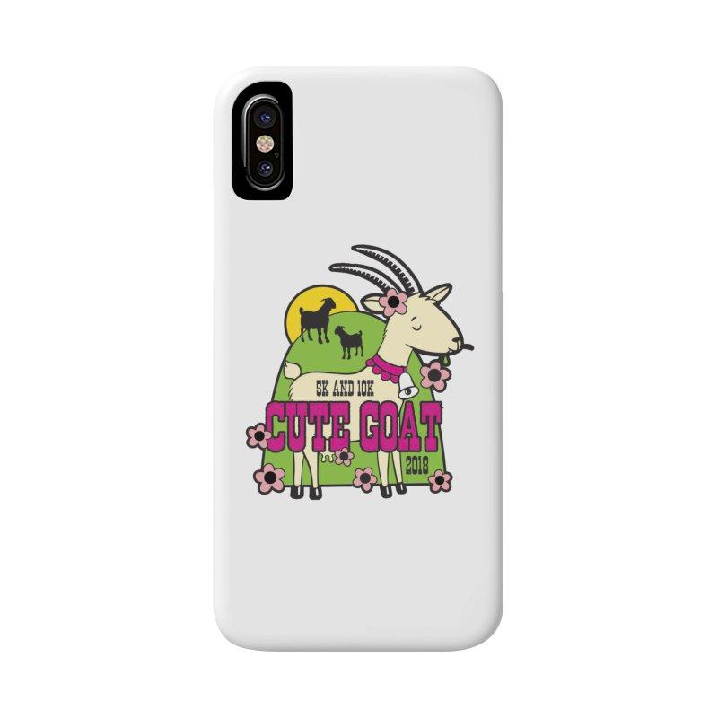 Cute Goat 5K & 10K Accessories Phone Case by moonjoggers's Artist Shop
