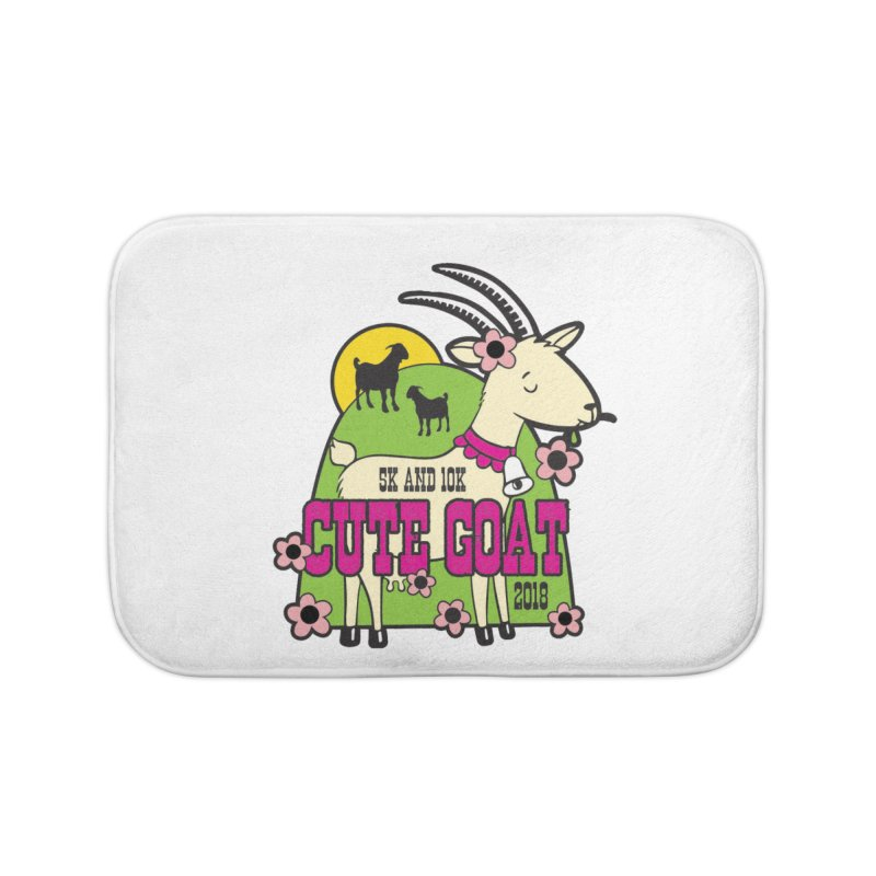 Cute Goat 5K & 10K Home Bath Mat by moonjoggers's Artist Shop