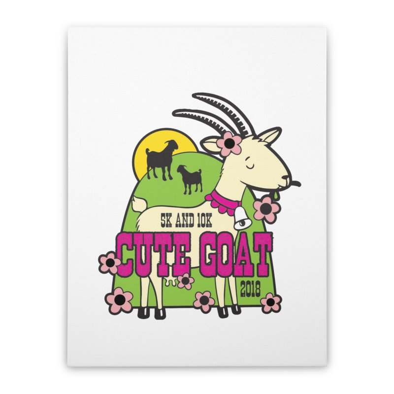 Cute Goat 5K & 10K Home Stretched Canvas by moonjoggers's Artist Shop