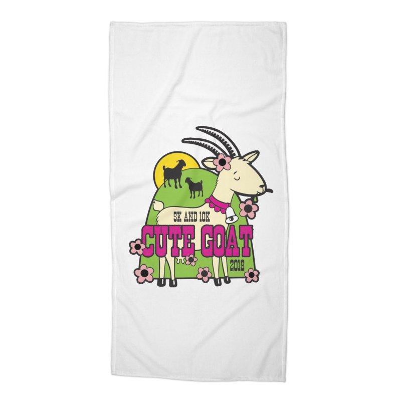 Cute Goat 5K & 10K Accessories Beach Towel by moonjoggers's Artist Shop