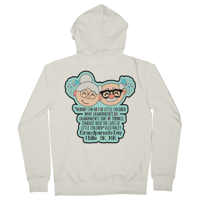 Grandparents Day 1 Mile, 5K & 10K Women's French Terry Zip-Up Hoody by moonjoggers's Artist Shop
