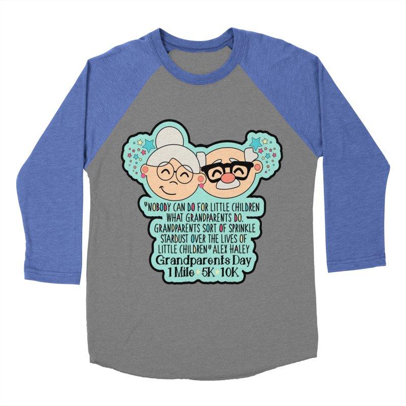 Grandparents Day 1 Mile, 5K & 10K Men's Baseball Triblend Longsleeve T-Shirt by moonjoggers's Artist Shop