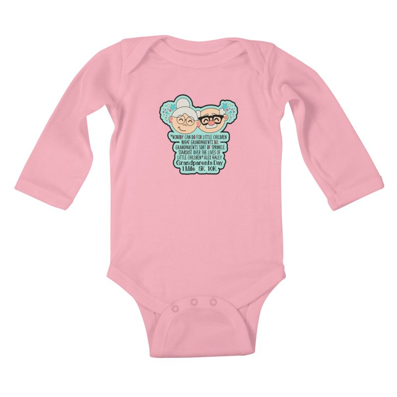 Grandparents Day 1 Mile, 5K & 10K Kids Baby Longsleeve Bodysuit by moonjoggers's Artist Shop