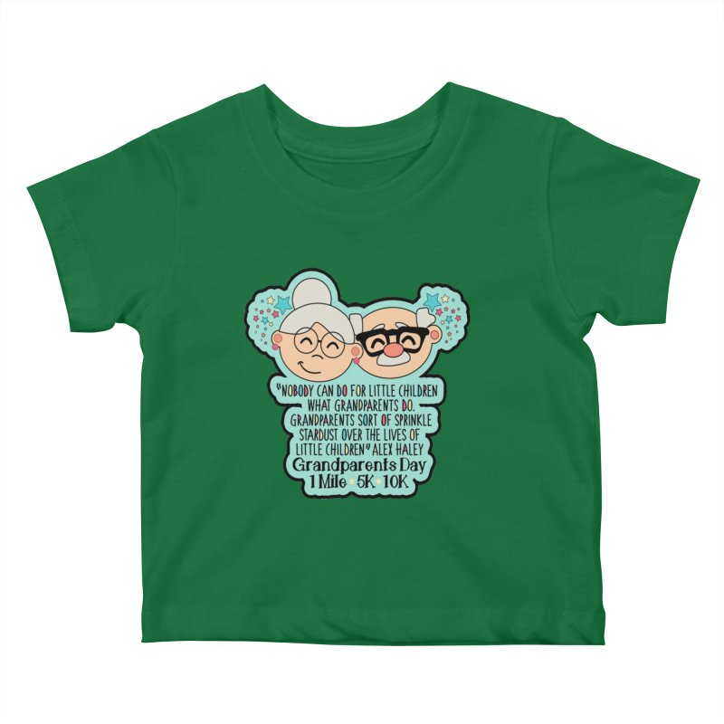 Grandparents Day 1 Mile, 5K & 10K Kids Baby T-Shirt by moonjoggers's Artist Shop