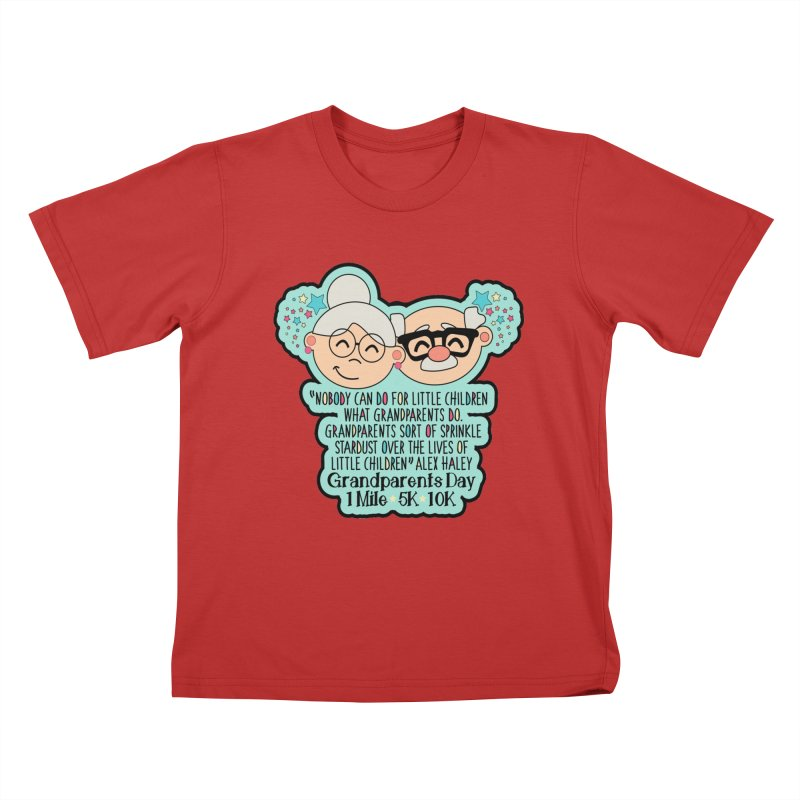 Grandparents Day 1 Mile, 5K & 10K Kids T-Shirt by moonjoggers's Artist Shop