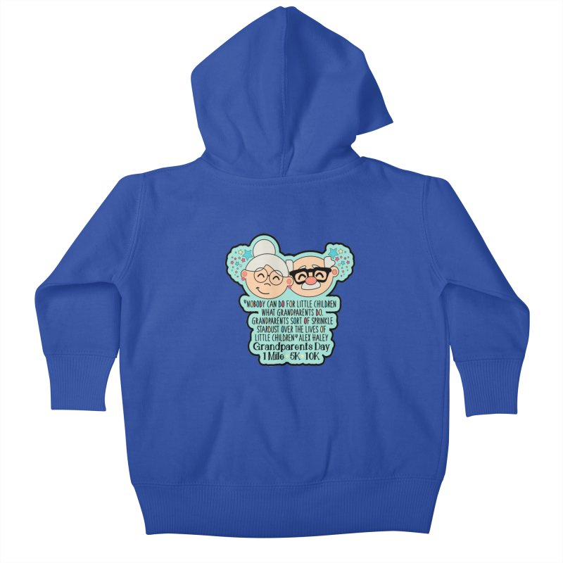 Grandparents Day 1 Mile, 5K & 10K Kids Baby Zip-Up Hoody by moonjoggers's Artist Shop