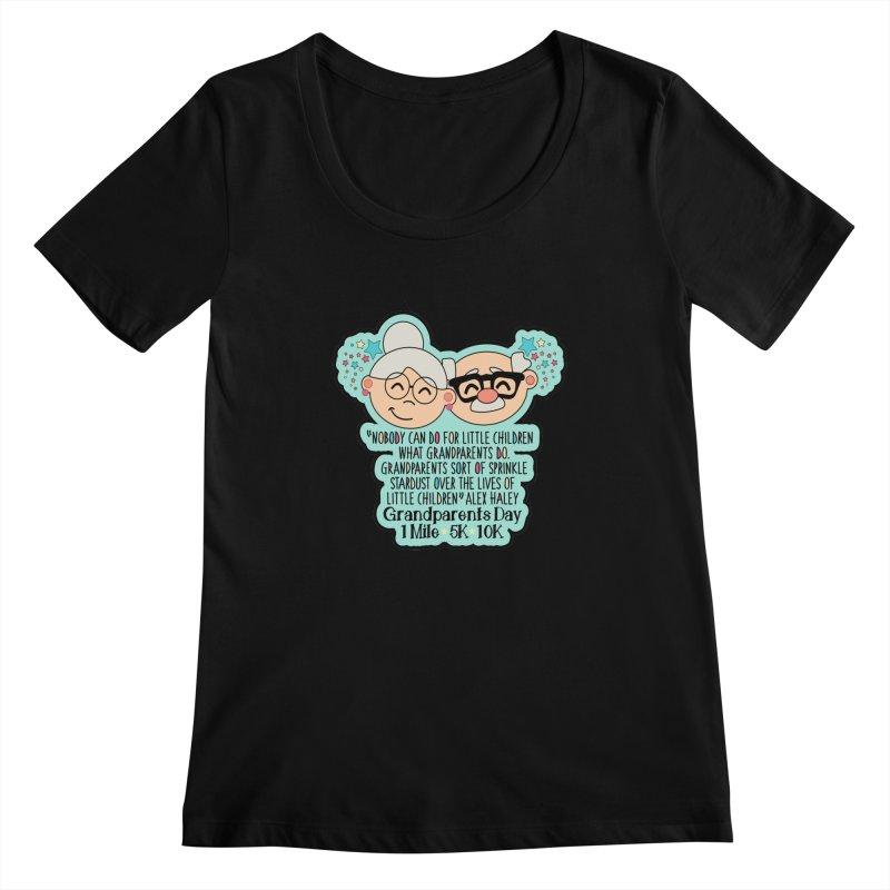 Grandparents Day 1 Mile, 5K & 10K Women's Regular Scoop Neck by moonjoggers's Artist Shop