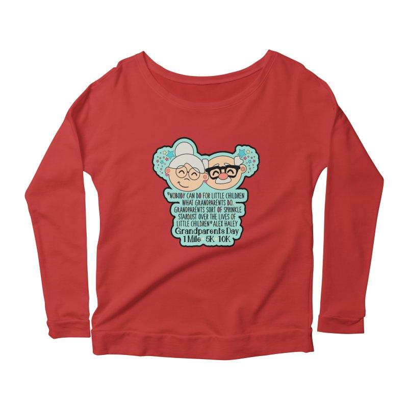 Grandparents Day 1 Mile, 5K & 10K Women's Scoop Neck Longsleeve T-Shirt by moonjoggers's Artist Shop