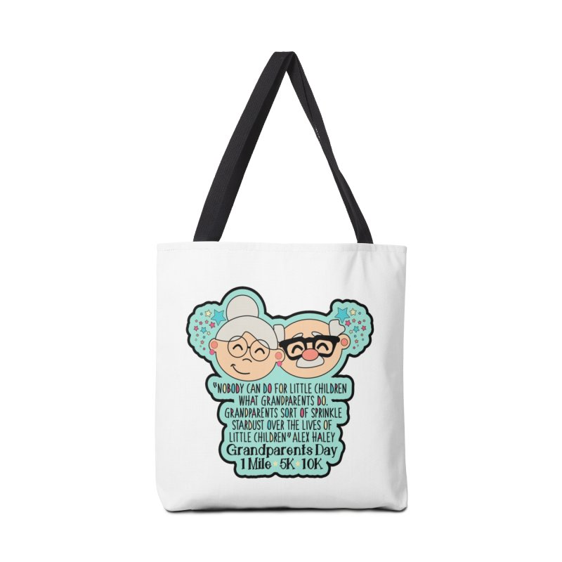 Grandparents Day 1 Mile, 5K & 10K Accessories Bag by moonjoggers's Artist Shop