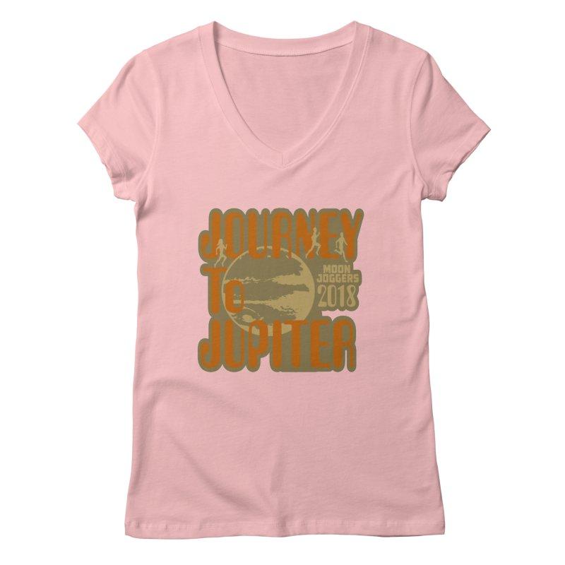 Journey To Jupiter 2018: Running and Walking Challenge Women's Regular V-Neck by moonjoggers's Artist Shop