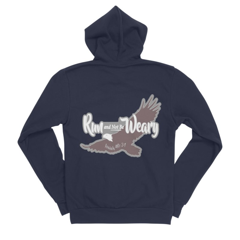 Run and Not Be Weary 1 Mile, 5K, 10K, 13.1, 26.2 Men's Sponge Fleece Zip-Up Hoody by moonjoggers's Artist Shop