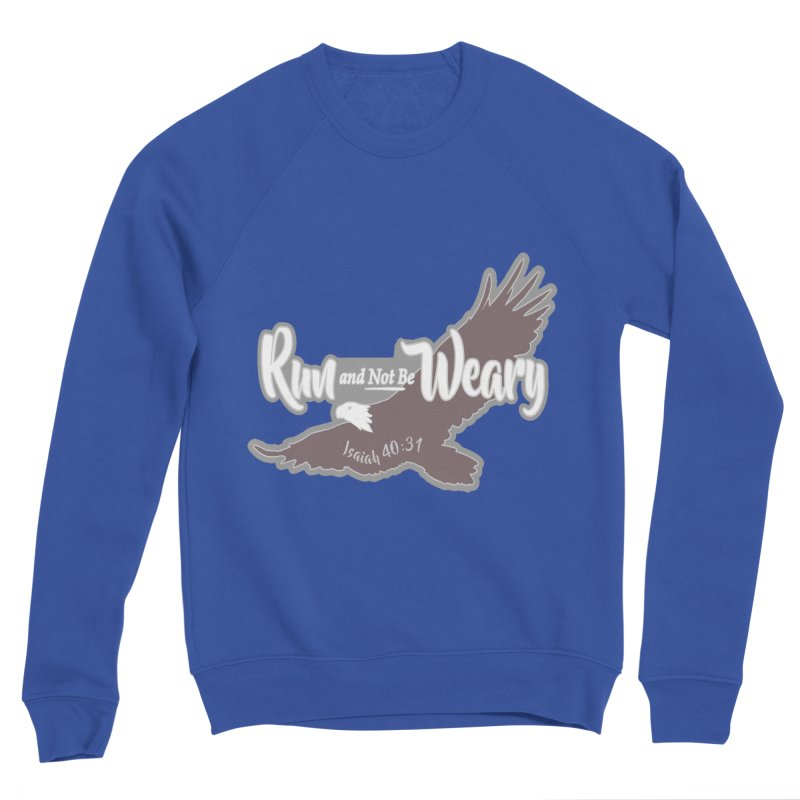 Run and Not Be Weary 1 Mile, 5K, 10K, 13.1, 26.2 Men's Sponge Fleece Sweatshirt by moonjoggers's Artist Shop
