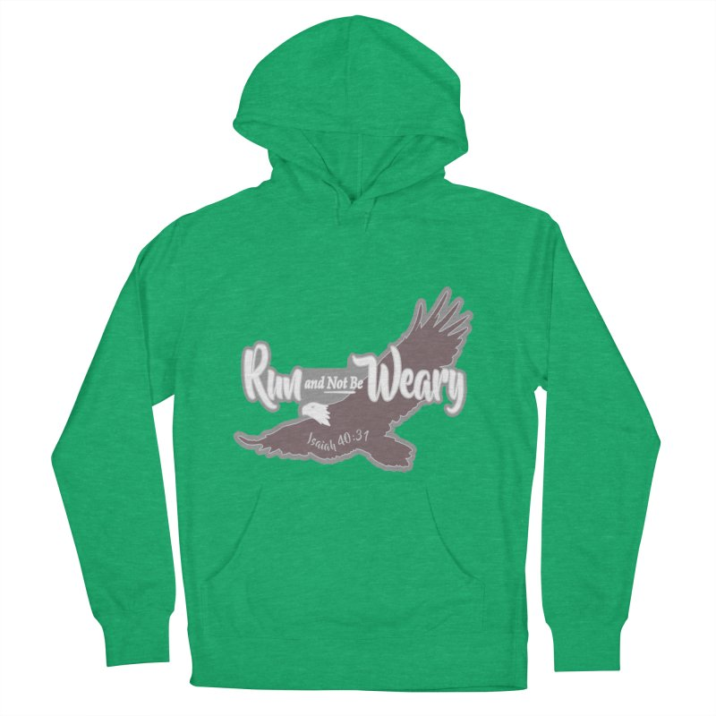 Run and Not Be Weary 1 Mile, 5K, 10K, 13.1, 26.2 Men's French Terry Pullover Hoody by moonjoggers's Artist Shop