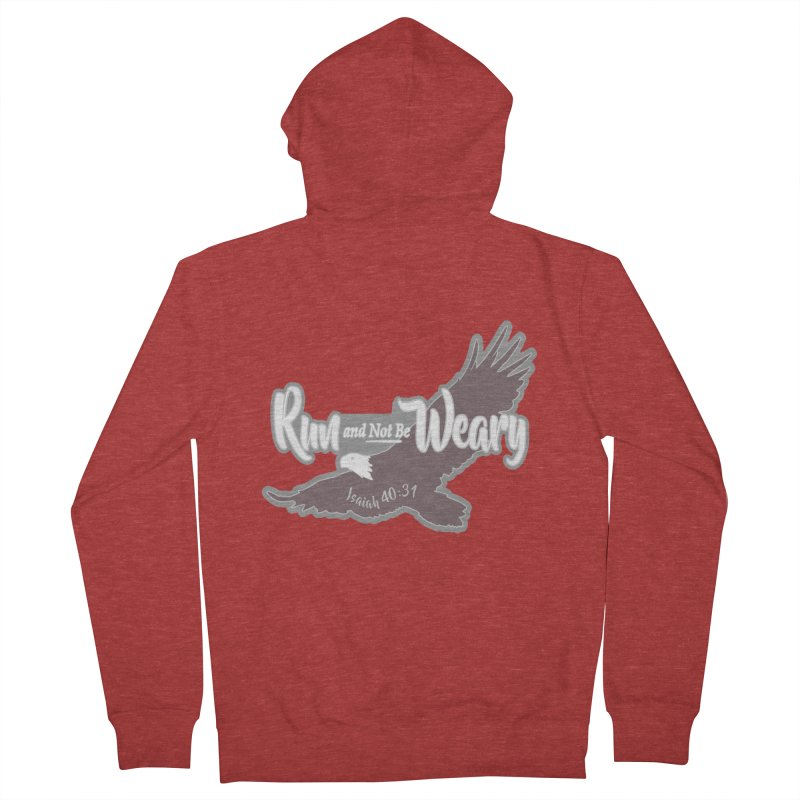 Run and Not Be Weary 1 Mile, 5K, 10K, 13.1, 26.2 Men's French Terry Zip-Up Hoody by moonjoggers's Artist Shop