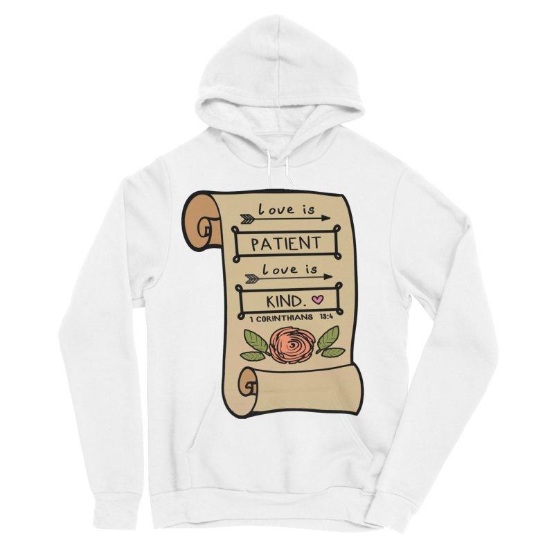 Love Is Patient 1 Mile, 5K, 10K, 13.1, 26.2 Men's Sponge Fleece Pullover Hoody by moonjoggers's Artist Shop
