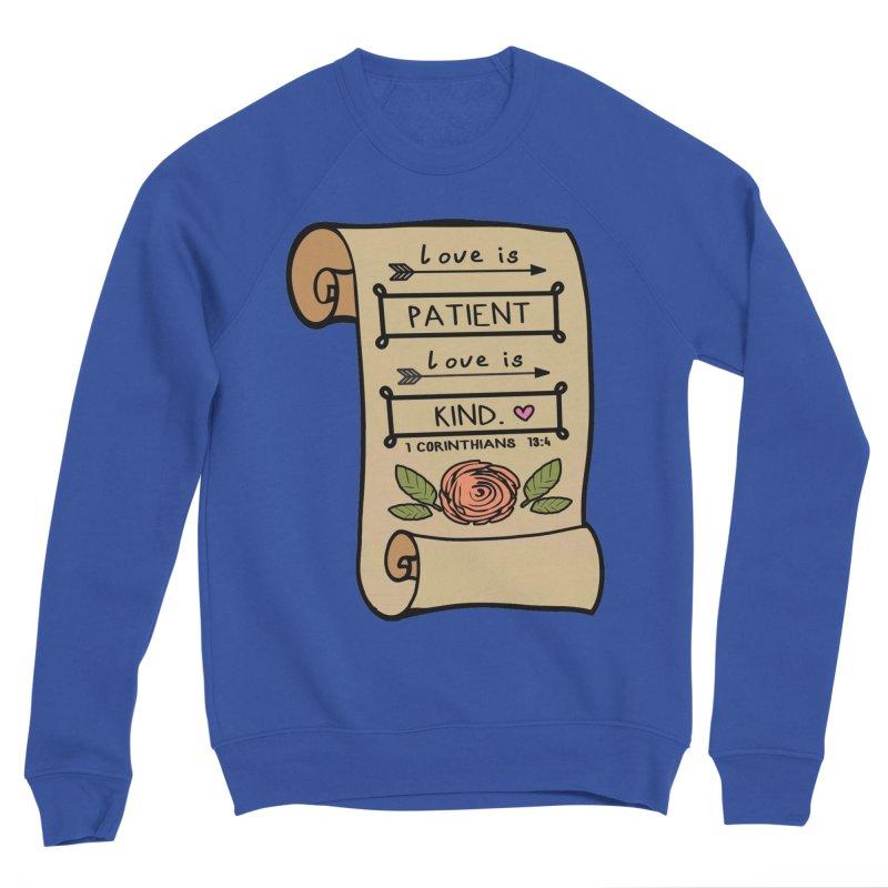 Love Is Patient 1 Mile, 5K, 10K, 13.1, 26.2 Men's Sponge Fleece Sweatshirt by moonjoggers's Artist Shop