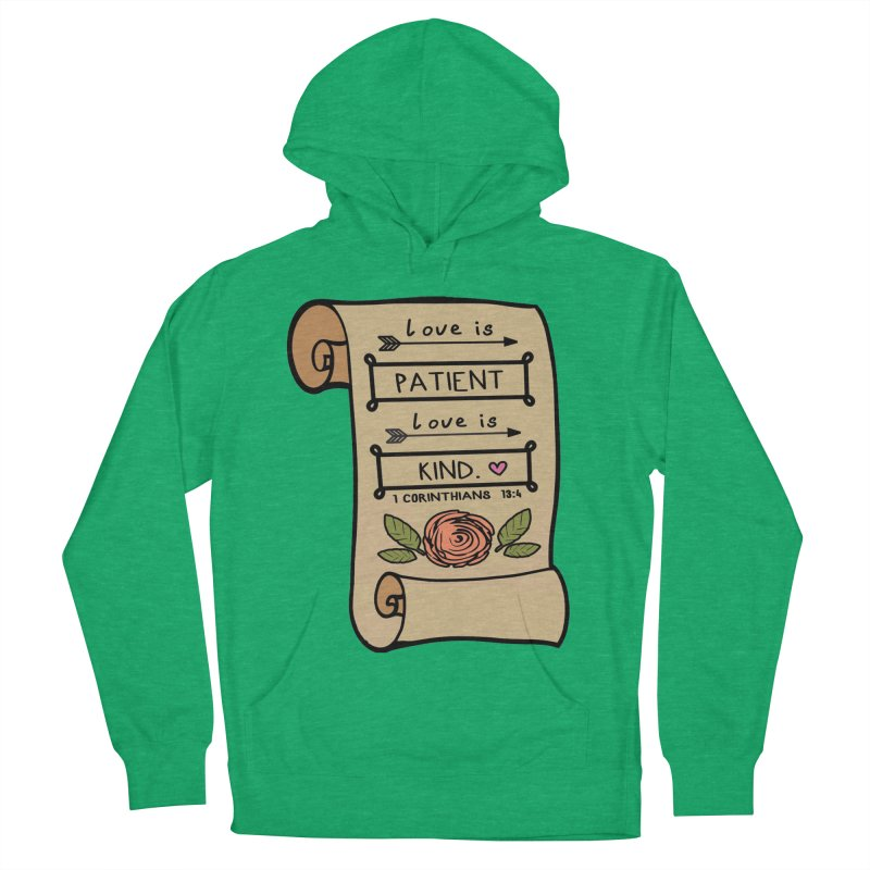 Love Is Patient 1 Mile, 5K, 10K, 13.1, 26.2 Men's French Terry Pullover Hoody by moonjoggers's Artist Shop