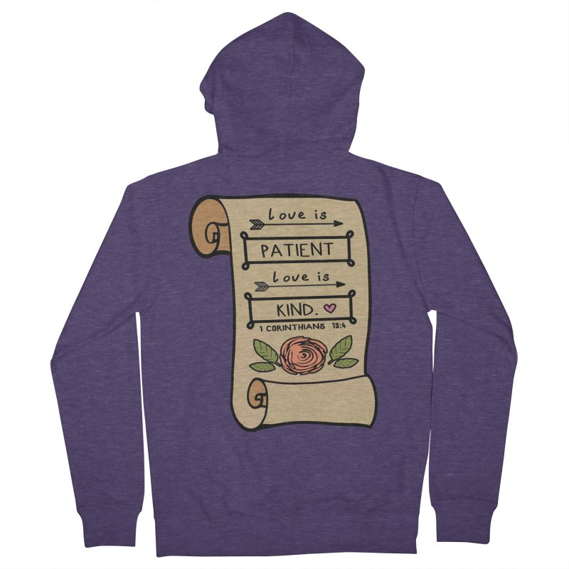 Love Is Patient 1 Mile, 5K, 10K, 13.1, 26.2 Men's French Terry Zip-Up Hoody by moonjoggers's Artist Shop