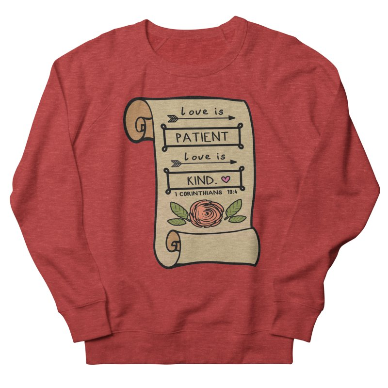 Love Is Patient 1 Mile, 5K, 10K, 13.1, 26.2 Men's French Terry Sweatshirt by moonjoggers's Artist Shop