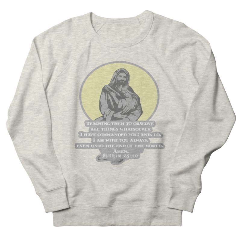 I Am With You Always 1 Mile, 5K, 10K, 13.1, 26.2 Men's French Terry Sweatshirt by moonjoggers's Artist Shop