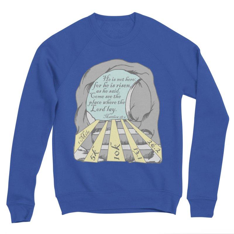He Is Risen 1 Mile, 5K, 10K, 13.1, 26.2 Men's Sponge Fleece Sweatshirt by moonjoggers's Artist Shop