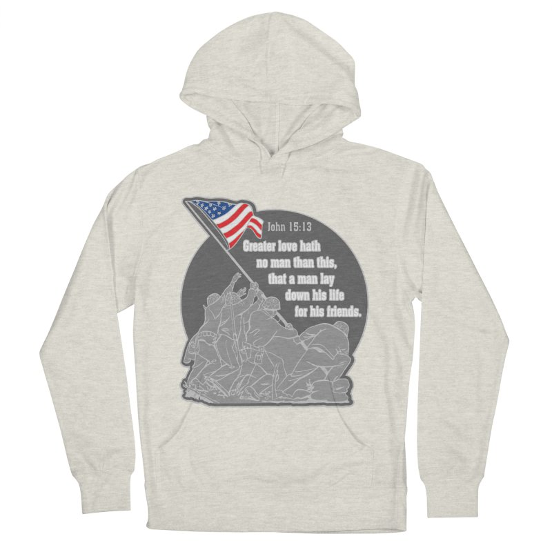 Greater Love 1 Mile, 5K, 10K, 13.1, 26.2 Men's French Terry Pullover Hoody by moonjoggers's Artist Shop