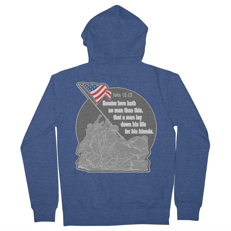 Greater Love 1 Mile, 5K, 10K, 13.1, 26.2 Men's French Terry Zip-Up Hoody by moonjoggers's Artist Shop