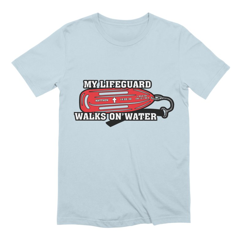 My Lifeguard Walks on Water 1 Mile, 5K, 10K, 13.1, 26.2 Men's Extra Soft T-Shirt by moonjoggers's Artist Shop