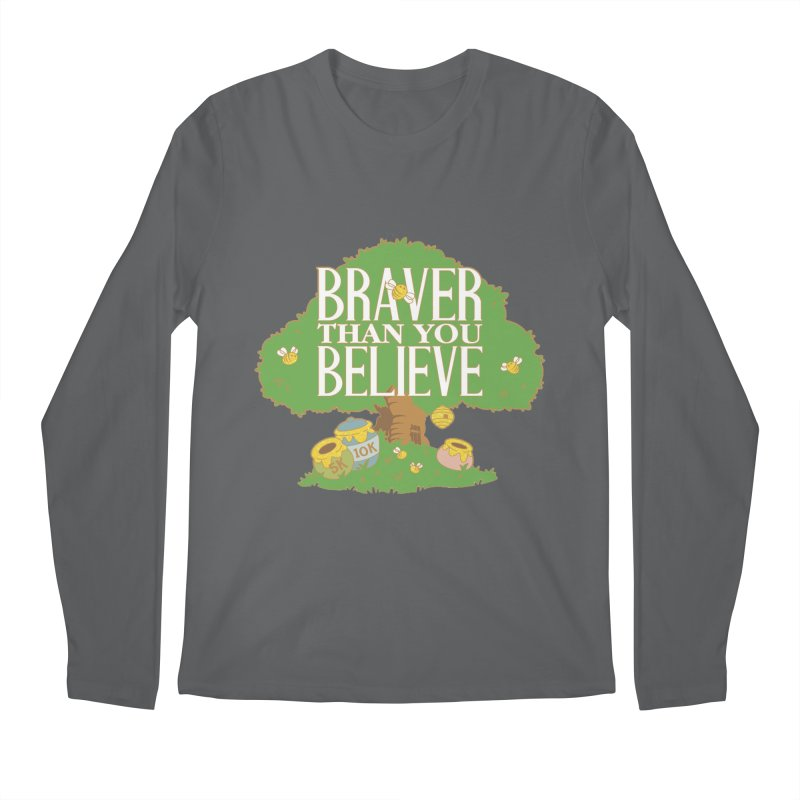 Braver Than You Believe 5K & 10K Men's Regular Longsleeve T-Shirt by moonjoggers's Artist Shop