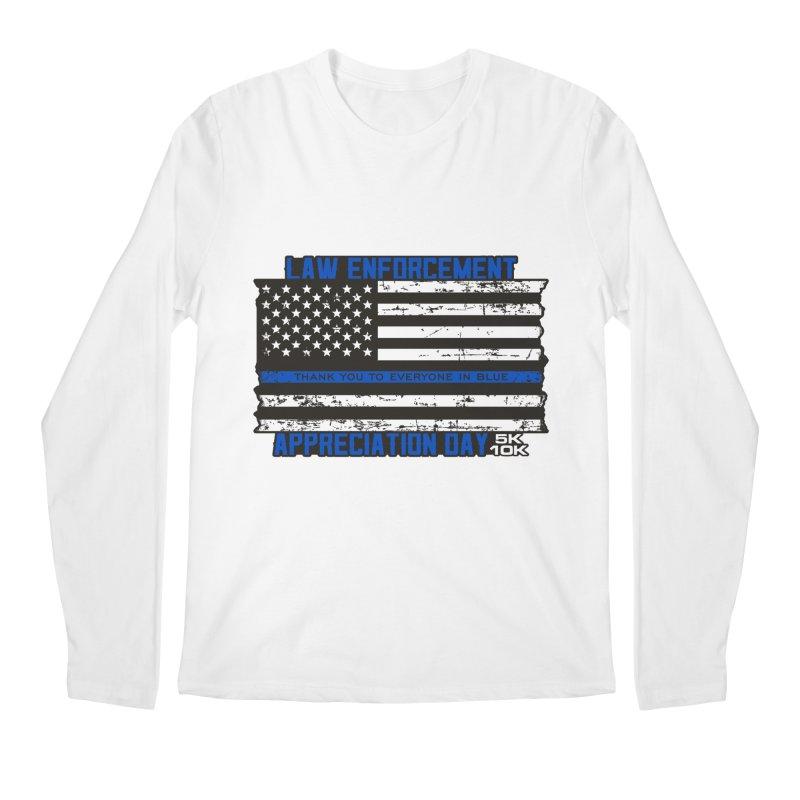 Law Enforcement Appreciation Day 5K & 10K Men's Regular Longsleeve T-Shirt by moonjoggers's Artist Shop