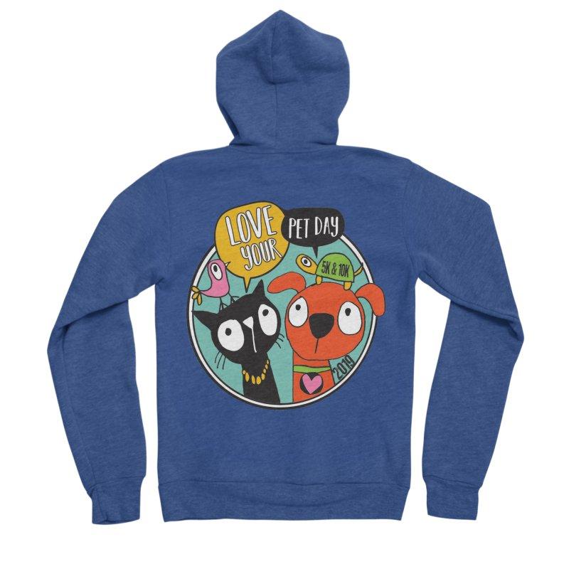 Love Your Pet 5K & 10K Women's Sponge Fleece Zip-Up Hoody by moonjoggers's Artist Shop