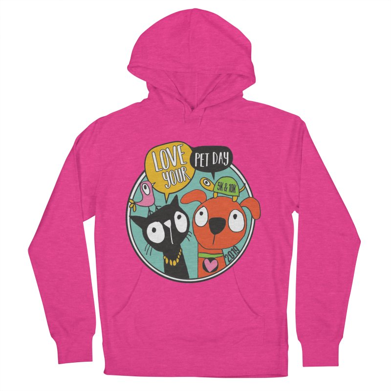 Love Your Pet 5K & 10K Men's French Terry Pullover Hoody by moonjoggers's Artist Shop