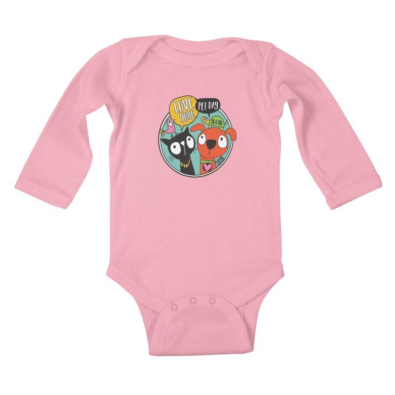 Love Your Pet 5K & 10K Kids Baby Longsleeve Bodysuit by moonjoggers's Artist Shop