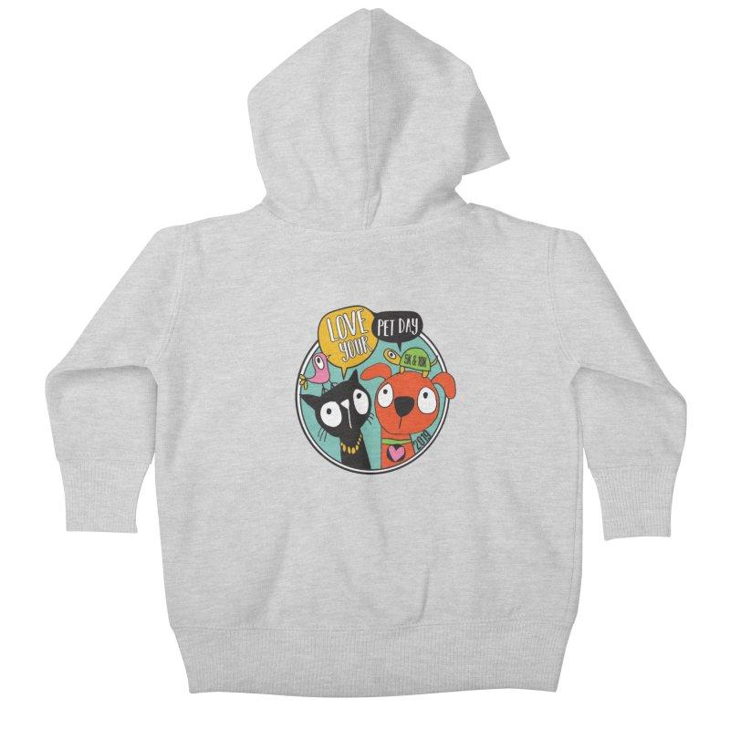 Love Your Pet 5K & 10K Kids Baby Zip-Up Hoody by moonjoggers's Artist Shop