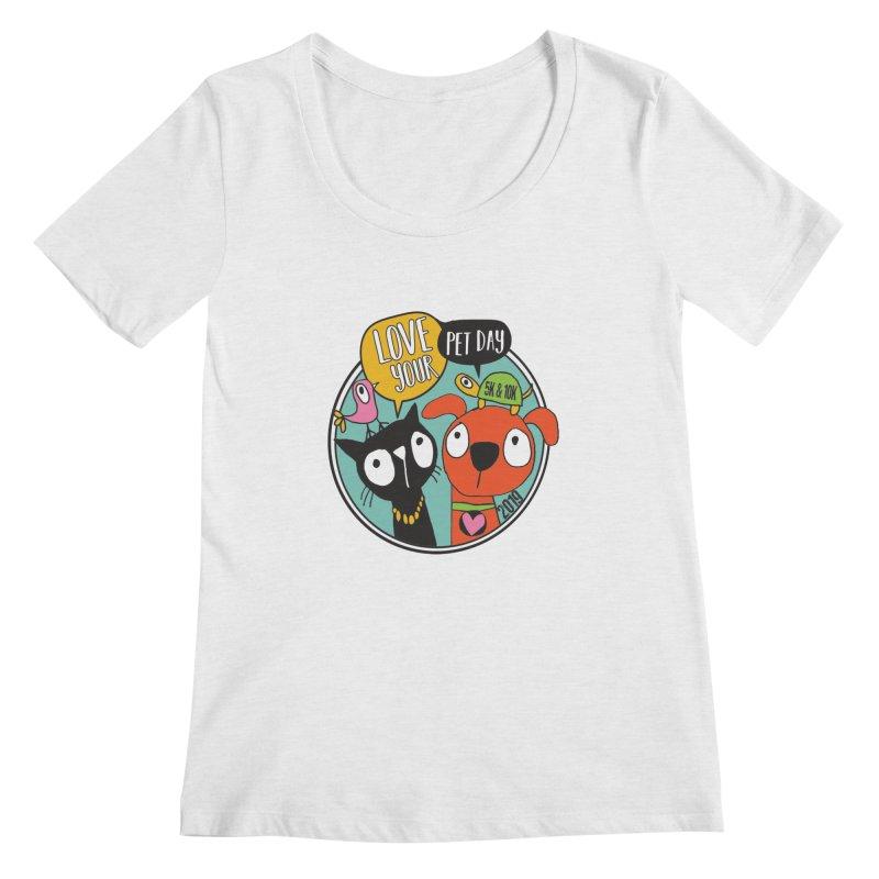 Love Your Pet 5K & 10K Women's Regular Scoop Neck by moonjoggers's Artist Shop
