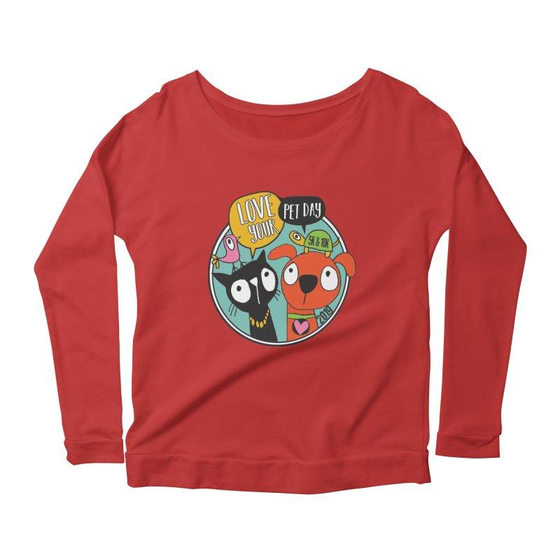 Love Your Pet 5K & 10K Women's Scoop Neck Longsleeve T-Shirt by moonjoggers's Artist Shop