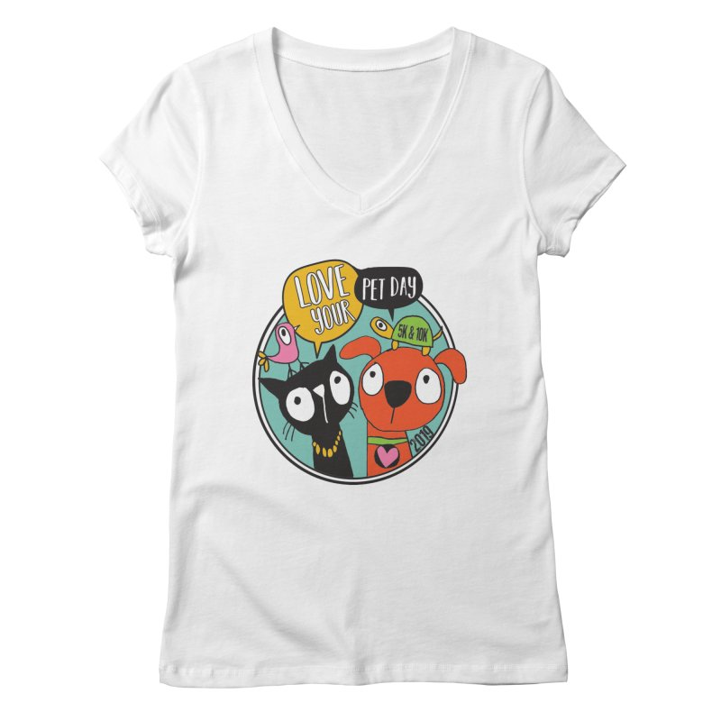 Love Your Pet 5K & 10K Women's Regular V-Neck by moonjoggers's Artist Shop