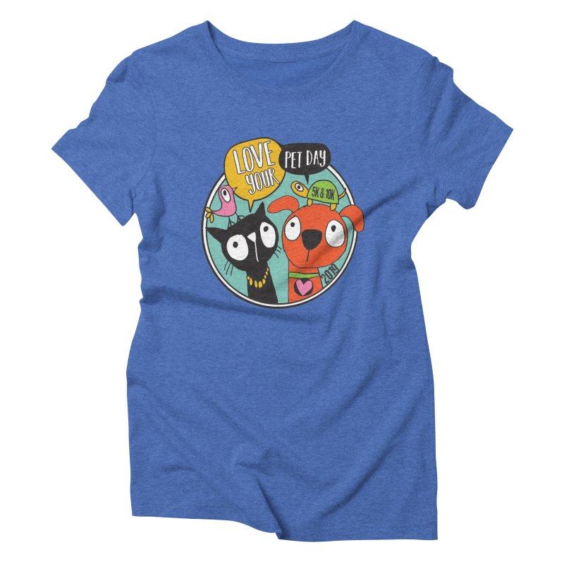 Love Your Pet 5K & 10K Women's Triblend T-Shirt by moonjoggers's Artist Shop