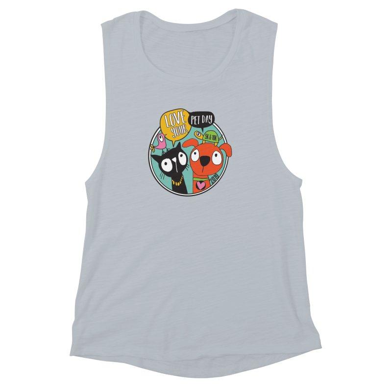 Love Your Pet 5K & 10K Women's Muscle Tank by moonjoggers's Artist Shop