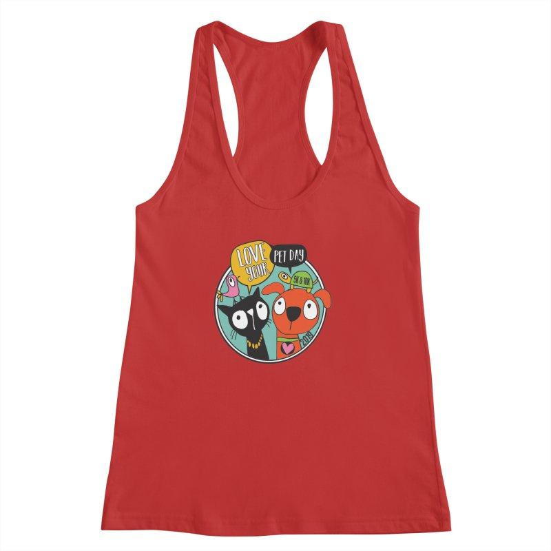 Love Your Pet 5K & 10K Women's Racerback Tank by moonjoggers's Artist Shop