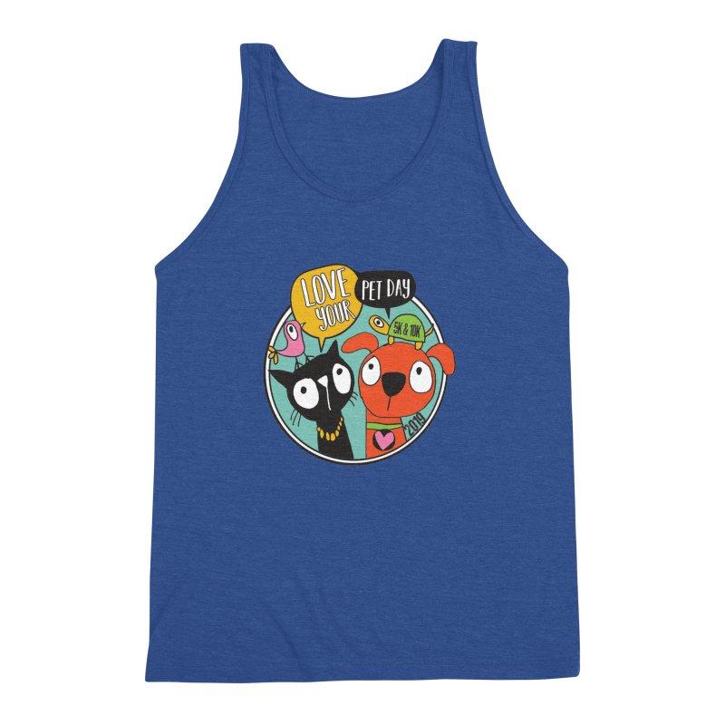 Love Your Pet 5K & 10K Men's Triblend Tank by moonjoggers's Artist Shop