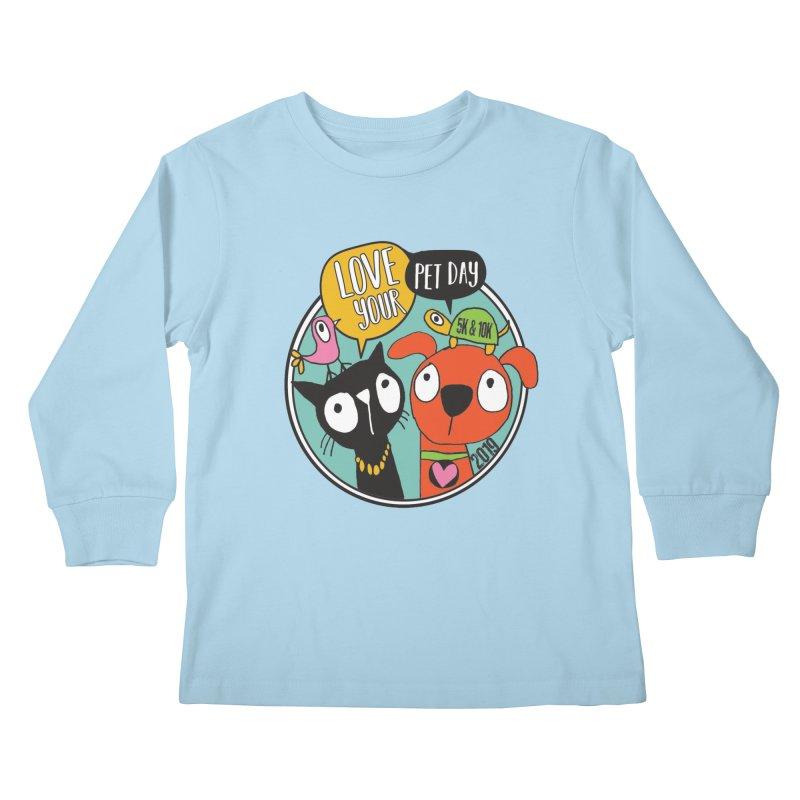 Love Your Pet 5K & 10K Kids Longsleeve T-Shirt by moonjoggers's Artist Shop